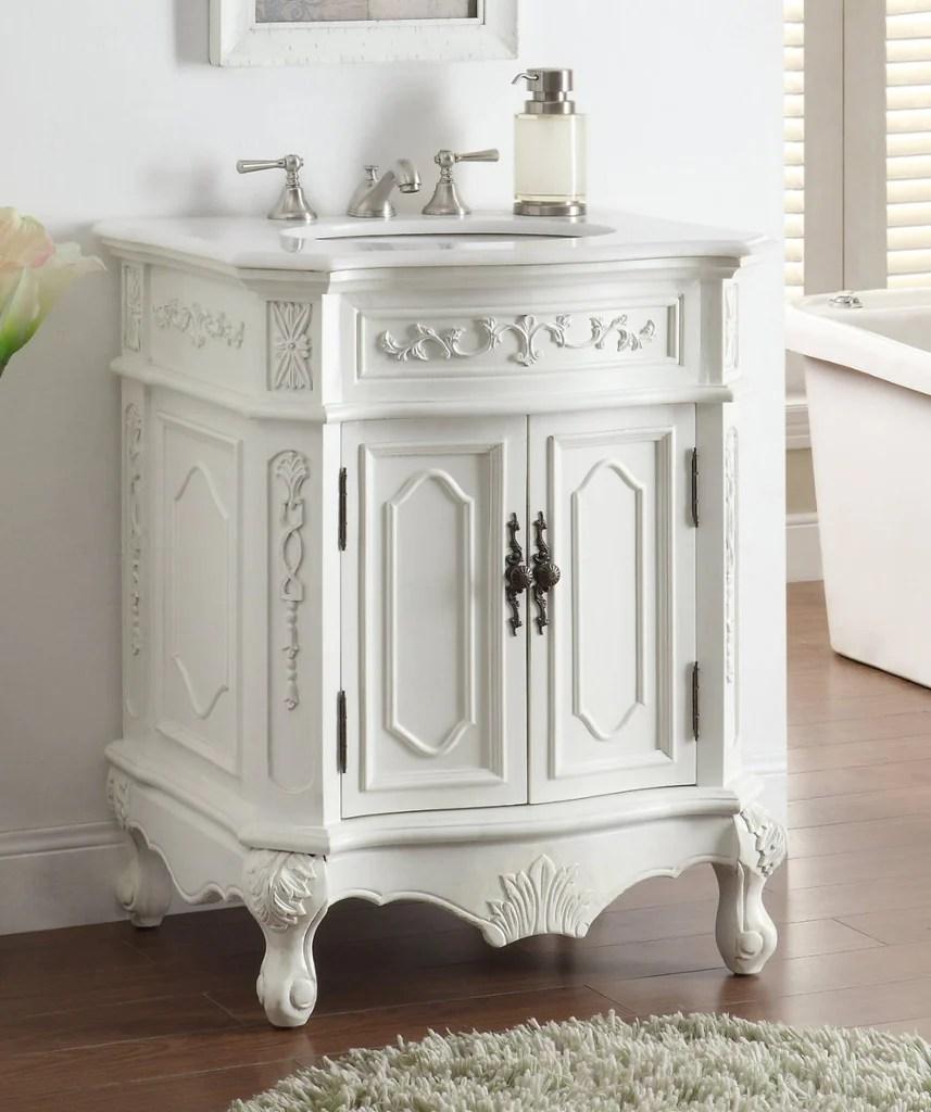 27 Antique white Spencer Bathroom Sink Vanity  CF3305W