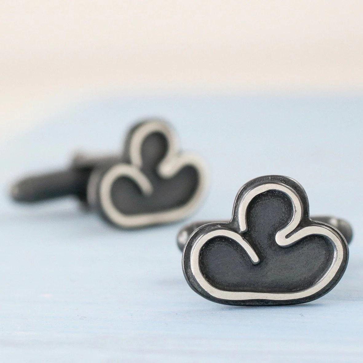 Cloud Silver Lining Cufflinks - Louy Magroos