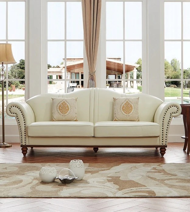 living room loveseat traditional leather sets denver ivory 2pc set sofa and furniture design centers