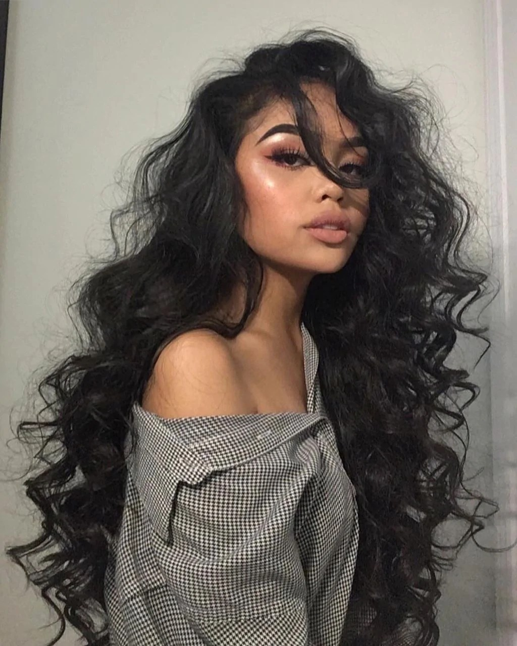 Lace Frontal Wigs Medium Length Naturally Curly Hairstyles Soft