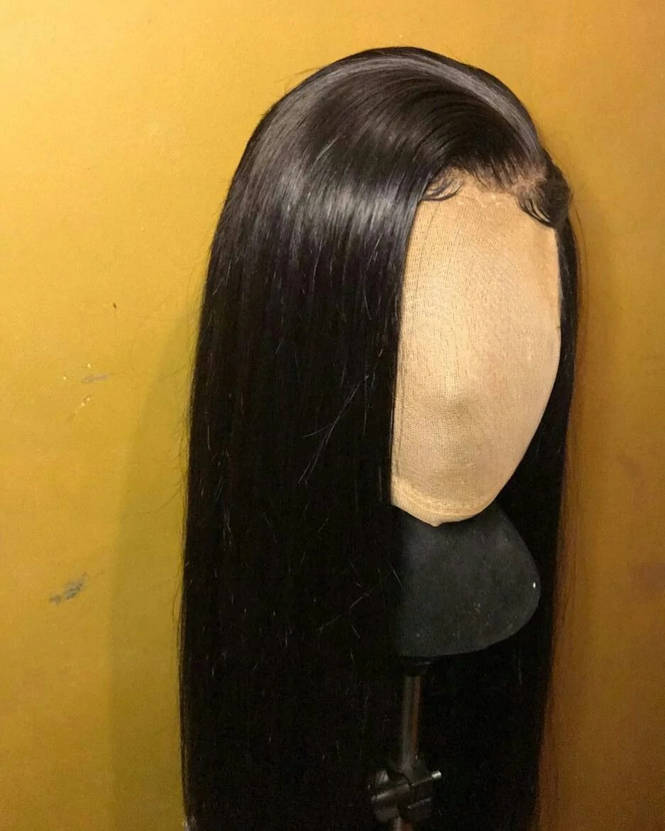 Black Lace Front Wigs Natural Human Hair Wigs For African American