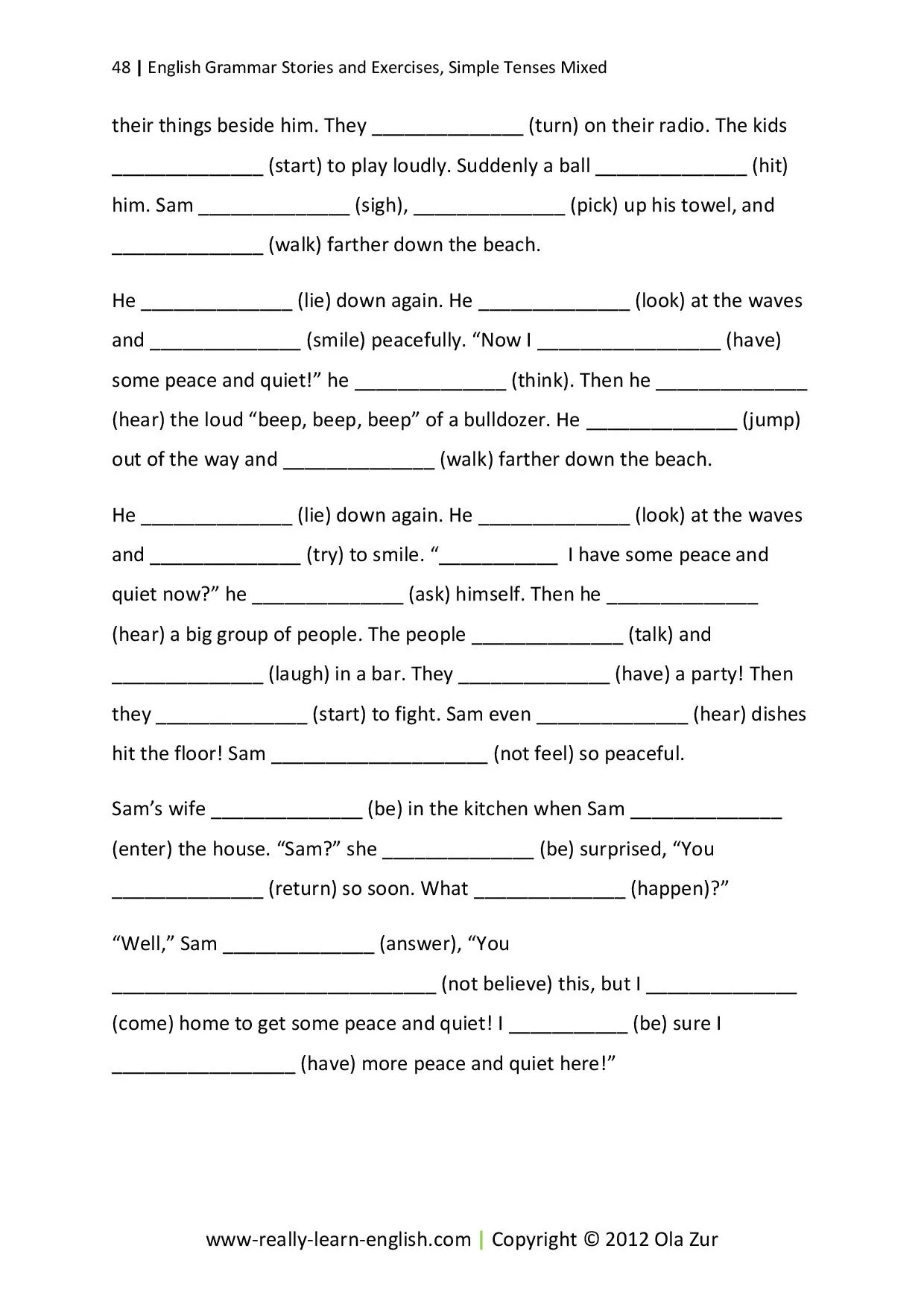 hight resolution of Stories and Exercises to Practice the Simple Tenses – Really Learn English