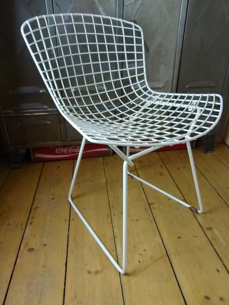 bertoia wire chair original swivel footstool 70s side by knoll eyespy