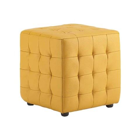 Kasala Modern Leather Storage Ottoman And Tray Top Bellevue Modern Furniture