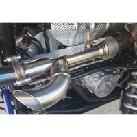 evolution powersports rzr xp turbo shocker electric side dump exhaust