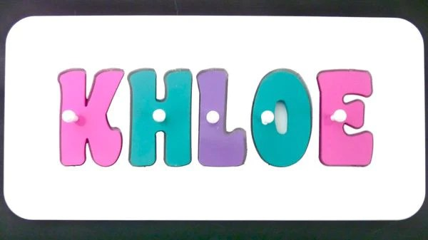personalised name puzzle pink