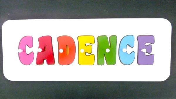 personalised name puzzle rainbow