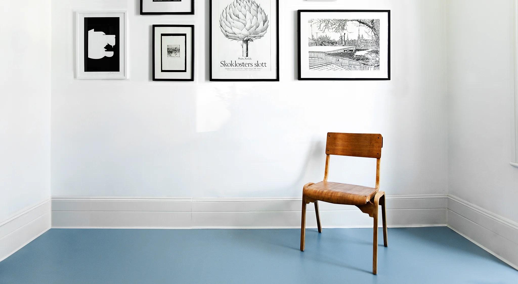 Luxury cork rubber and vinyl flooring in modern plain