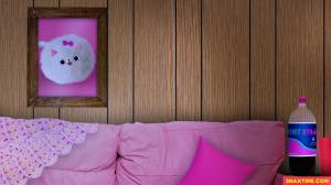 zoom virtual backgrounds background pink couch living kitten funny snaxtime weird