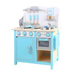 Wooden Toy Kitchen Aid Microwave 童話小主廚木製廚房玩具 Tiffany Blue Citiesocial 找好東西