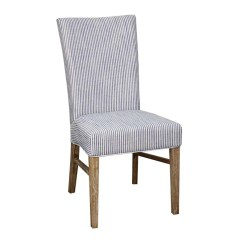 Blue And White Dining Chairs Upholstered Set Of 4 Milton Chair  Stripe Harvest