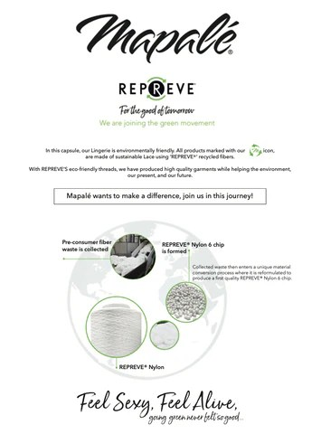 Go green with Mapale and Repreve
