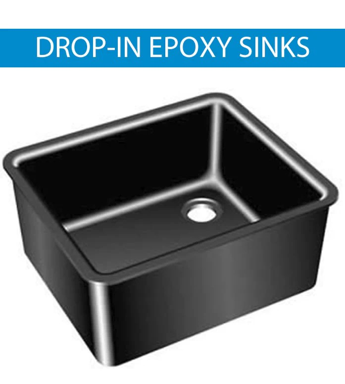 epoxy resin sinks drop in undermount