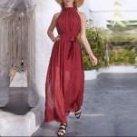 Rochie din sifon, fara maneci, calitate superioara