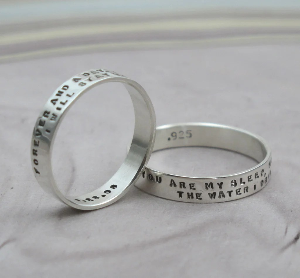 Custom Message Ring With 2 Lines Of Text - Kathrynriechert