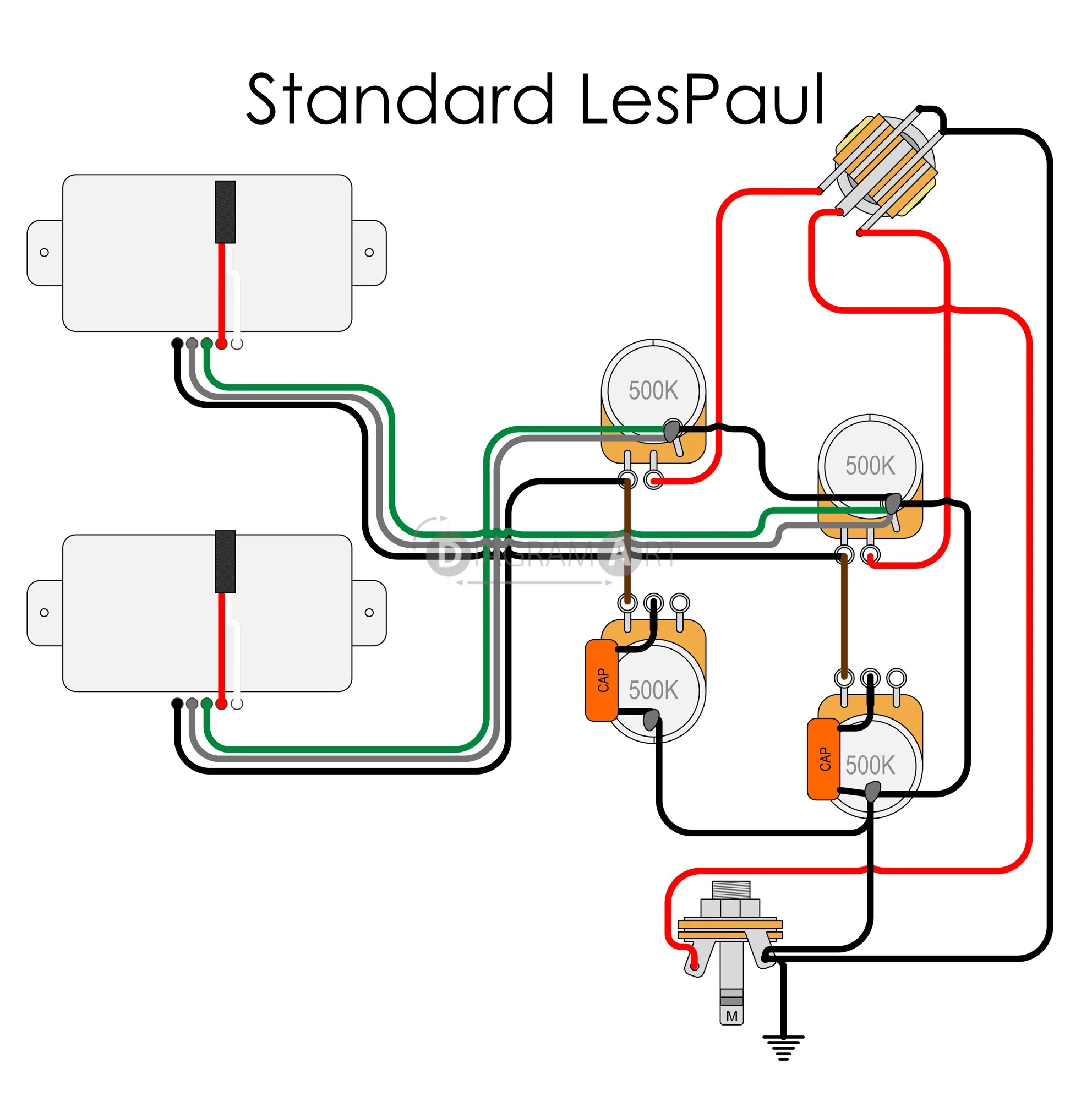 50 s style les paul wiring diagram 1993 volvo 240 stereo electric guitar standard lespaul circuit