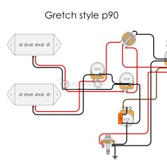 Guitar Wiring Diagrams P90 For Lighting Gibson P 90 Library