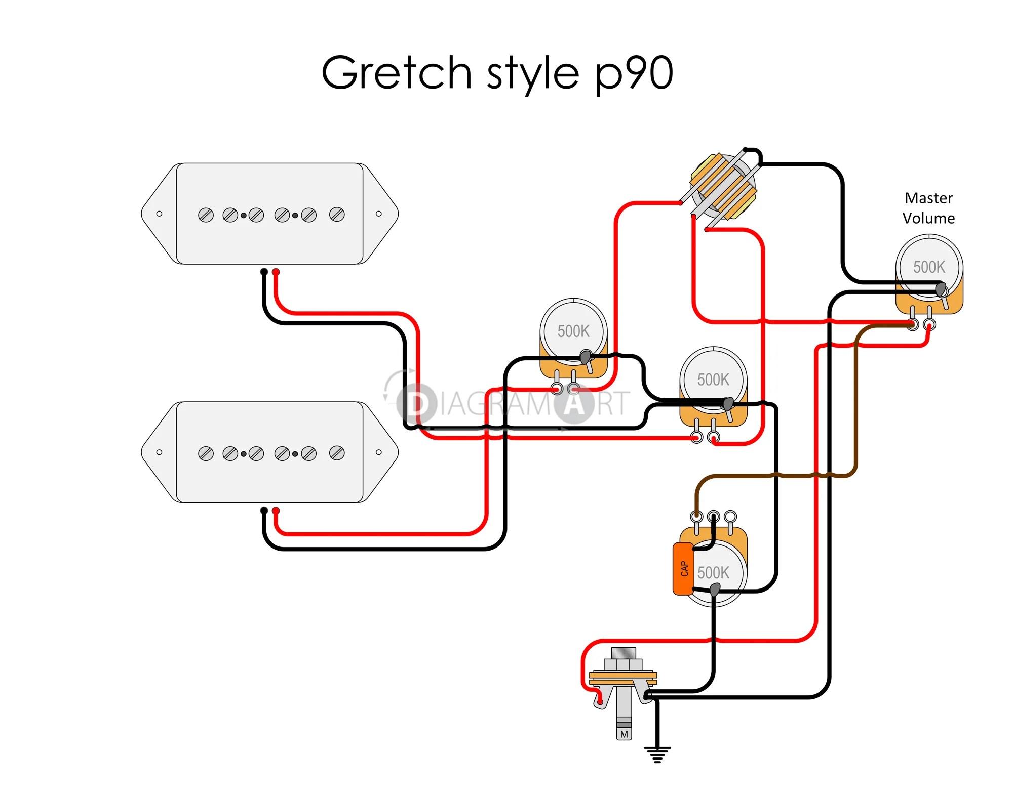 hight resolution of guitar wiring p90