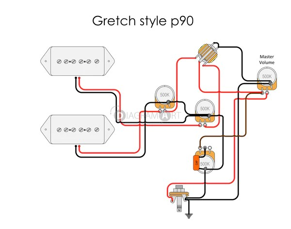 Electric Guitar Wiring: Gretch style p90 [Electric Circuit