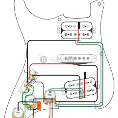 Simple Electric Guitar Wiring Diagram 2006 Nissan X Trail Stereo Hsh Diagrams 1 Pickup