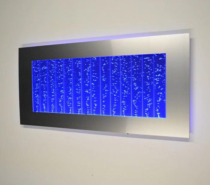 Horizontal Wall Mount LED Bubble Wall Indoor Fountain