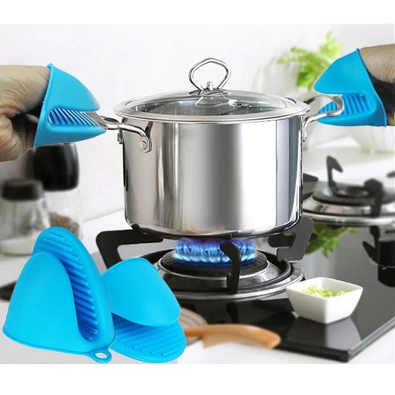 anti scald silicone kitchen oven gloves pot holder potholder heat resi cooktimeshop
