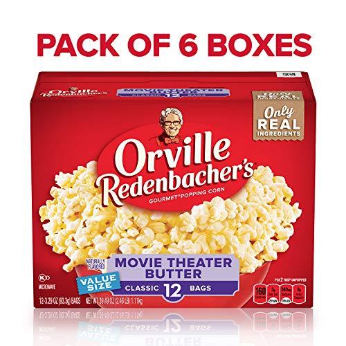 orville redenbacher s movie theater butter microwave popcorn 3 29 oun