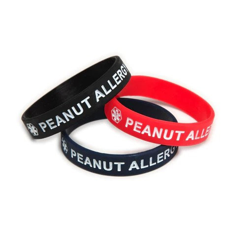 Fashion Alert - Kids Peanut Allergy Medical ID Silicone Bracelet Sets ...