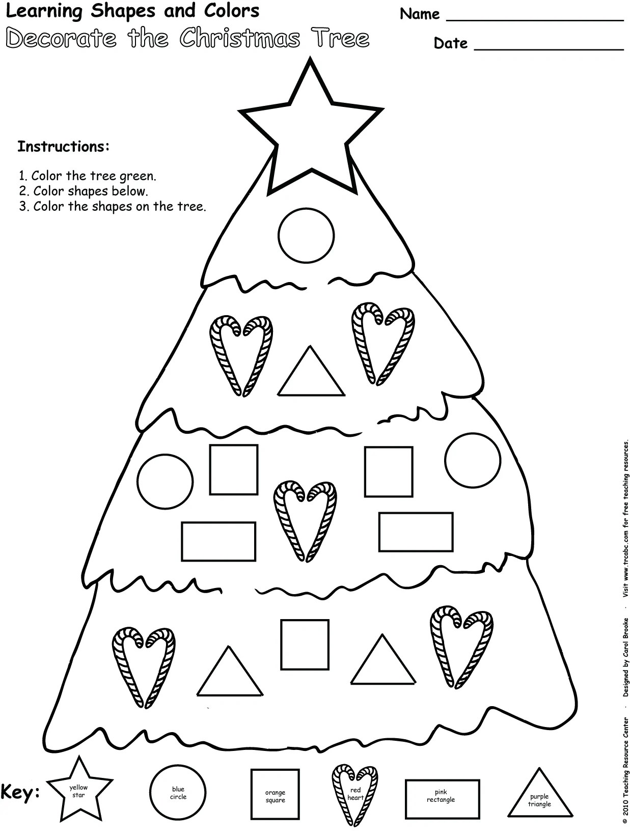 christmas shapes activity freebie