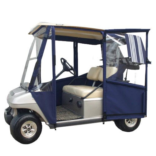 ezgo windshield 2002 impala wiring diagram club car ds pre2000 doorworks hinged door enclosure - sunbrella canvas