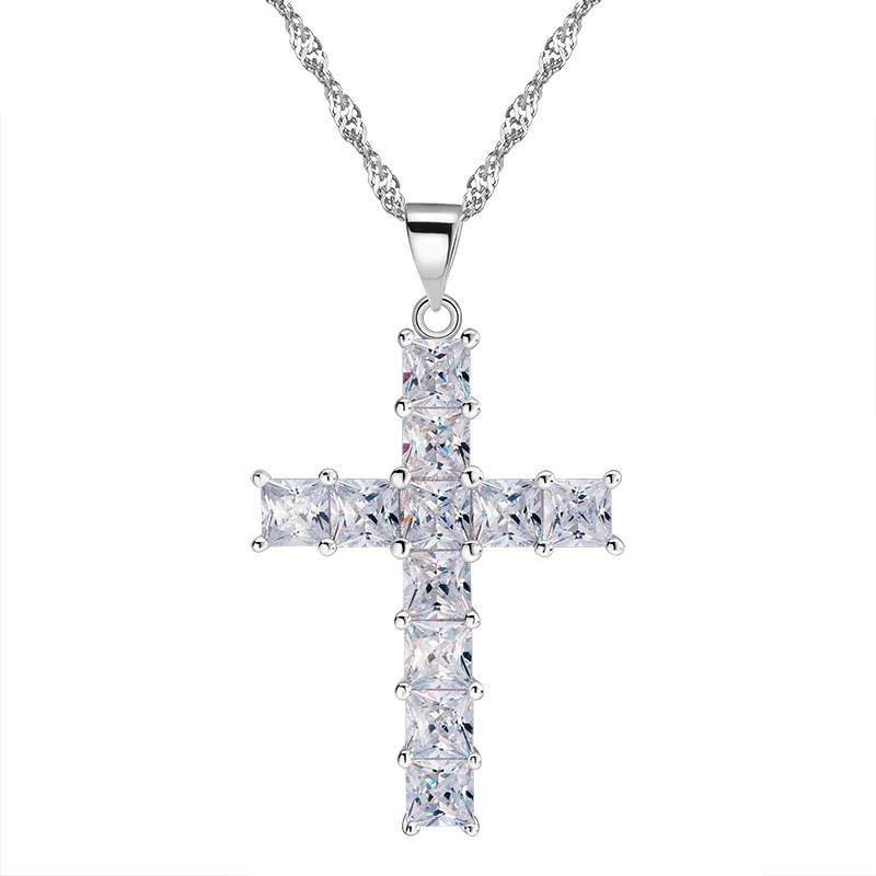 rin100 zirconia brass cross