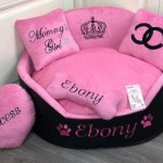 Chloescozycollection Bright Pink And Black Luxury Princess Designer Dog Bed Chloe S Cozy Collection