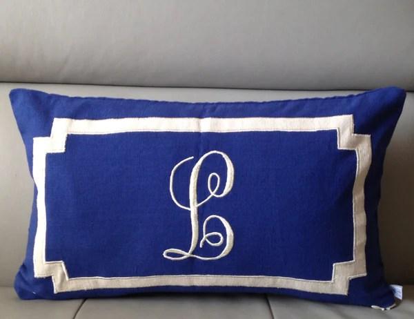 monogram lumbar pillow cover