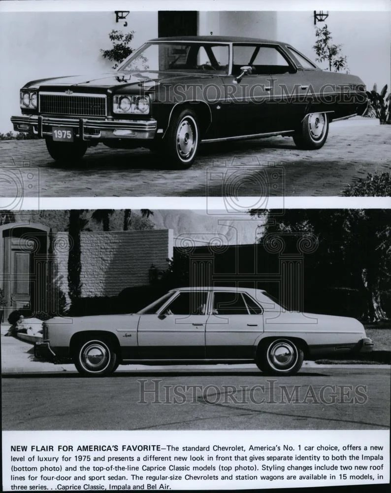 hight resolution of 1974 press photo automobile chevrolet impala and caprice classic spp01354 historic images