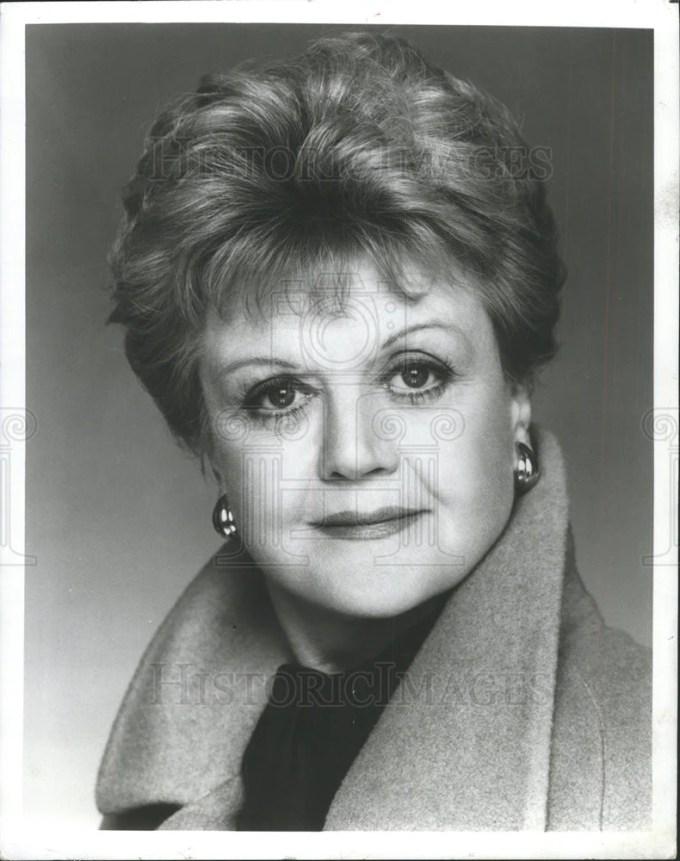 1995 press photo angela lansbury murder she wrote