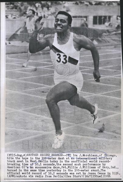 1956 Press Photo Ira Murchison 100Meter Dash World Record