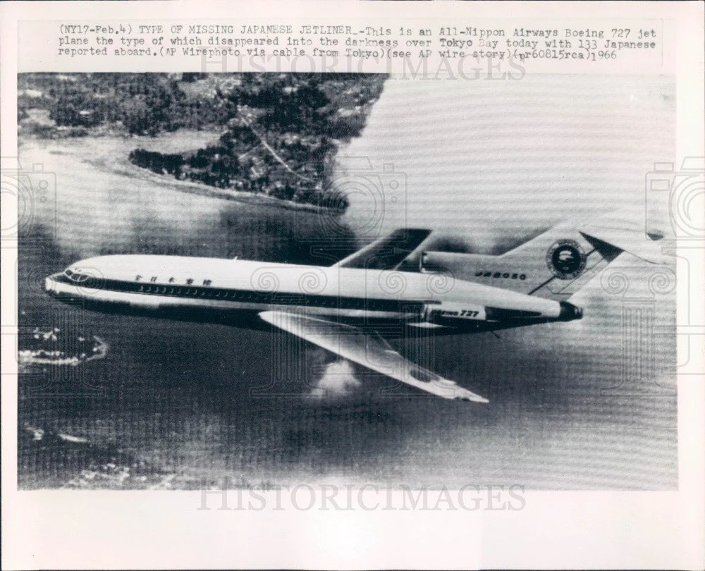 medium resolution of 1966 all nippon airways boeing 727 press photo historic images