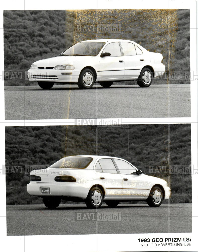 small resolution of 1992 press photo 1993 geo prizm lsi historic images
