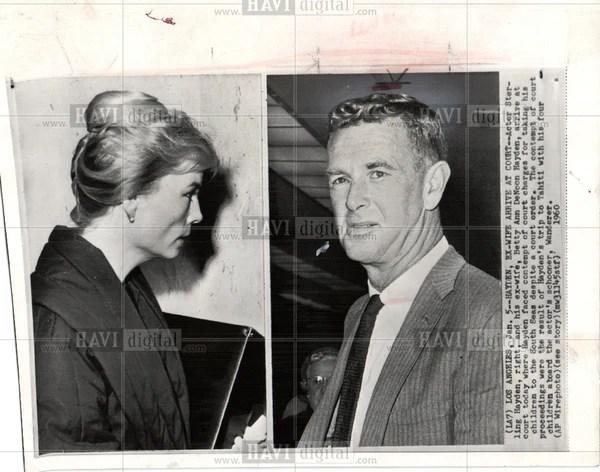 1960 Press Photo Sterling Hayden Betty Ann Denoon Wife