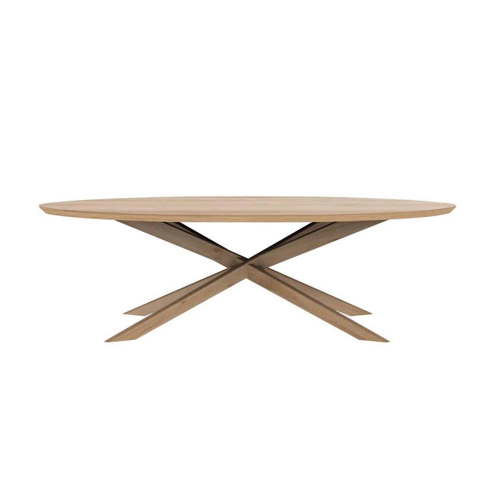 ethnicraft oak oval coffee table