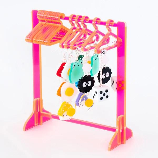 clothing rack earring hanger jelly