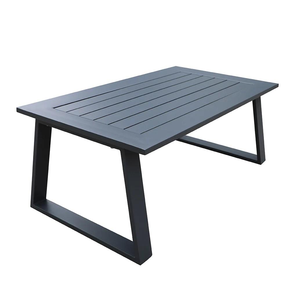 buy cast aluminum outdoor patio rectangle side table gardennaire