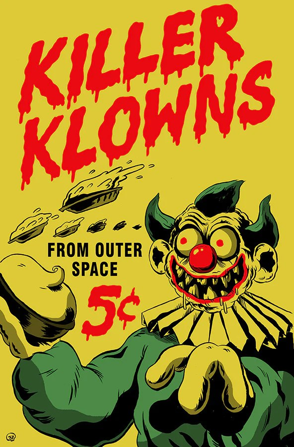 Killer Klowns from Outer Space Poster  Pizza Party Printing