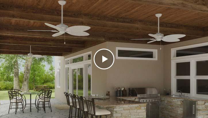a ceiling fan size style hunter fan