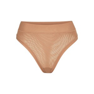 SKIMS Summer Mesh Thong Panties - Nude - Size 4XL