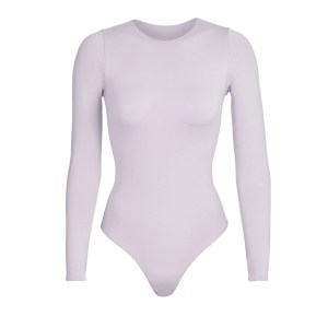 SKIMS Essential Crew Neck Long Sleeve Bodysuit - Purple - Size 4XL/5XL