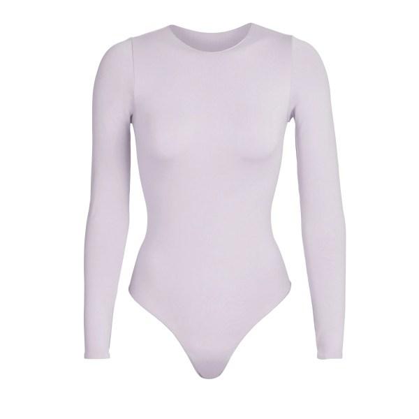 SKIMS Essential Crew Neck Long Sleeve Bodysuit - Purple - Size 4XL/5XL