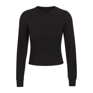 SKIMS Waffle Long Sleeve - Black - Size 4XL