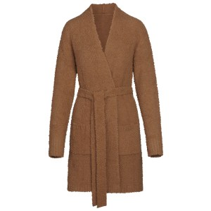 SKIMS Women's Cozy Knit Short Robe - CAMEL - Size 4XL/5XL