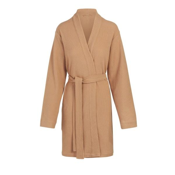 SKIMS Women's Waffle Robe - Nude - Size 4XL
